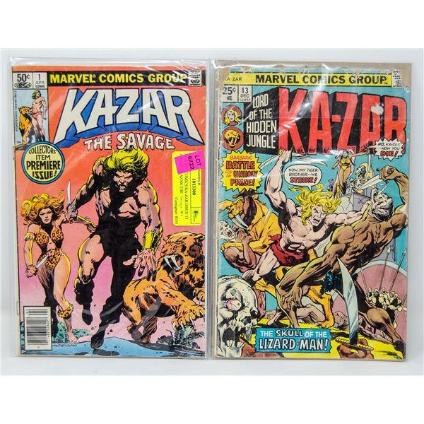 MARVEL COMICS KA-ZAR ISSUE 13 AND 17 + KAZAR THE