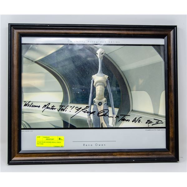 STAR WARS SIGNED RENA OWEN PICTURE