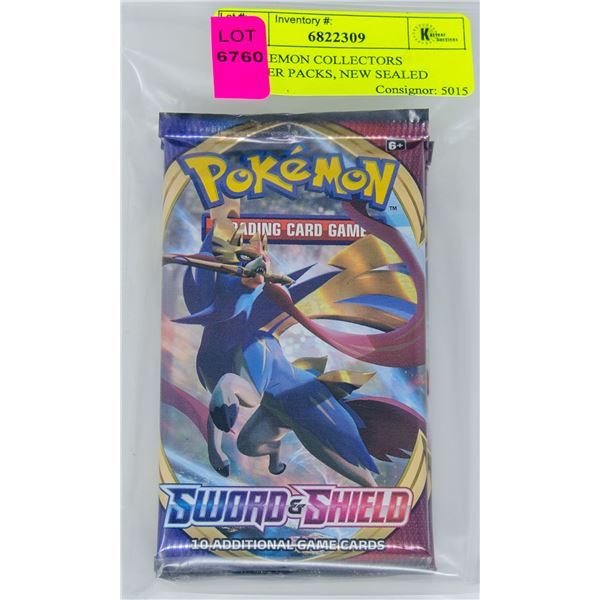 X4 POKEMON COLLECTORS BOOSTER PACKS, NEW SEALED