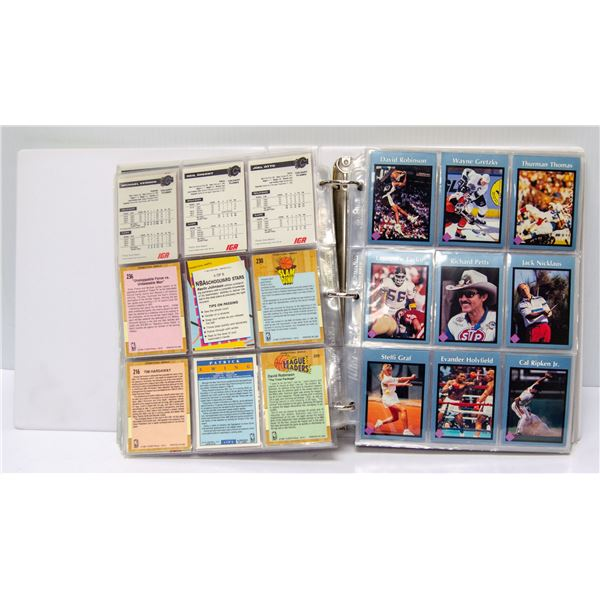 HUGE COLLECTION OF VARIOUS SPORTS CARDS IN BINDER