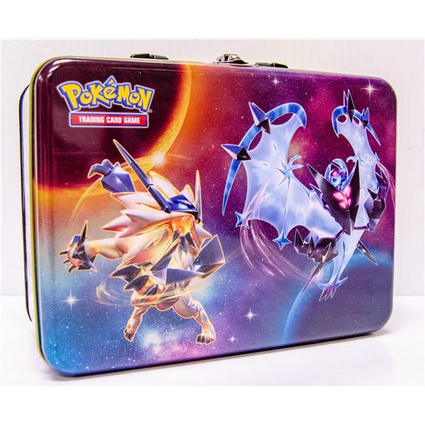 POKEMON COLLECTORS TIN WITH x4 BOOSTER PACKS ETC.