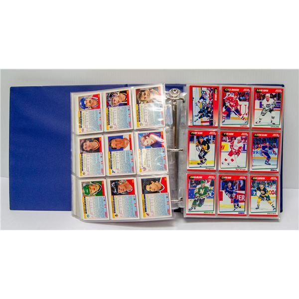 1991 COMPLETE SET OF SCORE HOCKEY CARDS IN BINDER