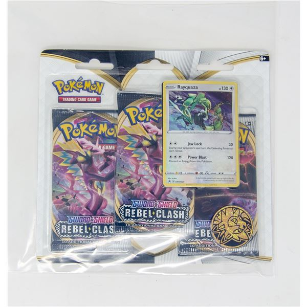 POKEMON PROMO CARDS x3 BOOSTER PACKS & COINS, NEW