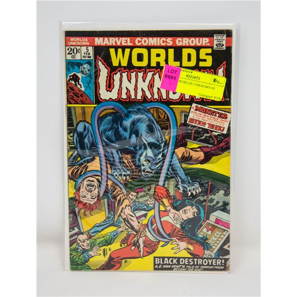 MARVEL WORLDS UNKNOWN #5 COMIC