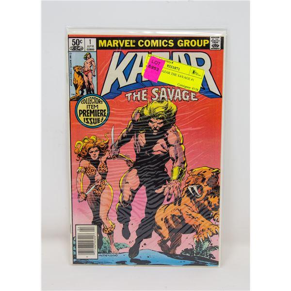 MARVEL KAZAR THE SAVAGE #1 COMIC