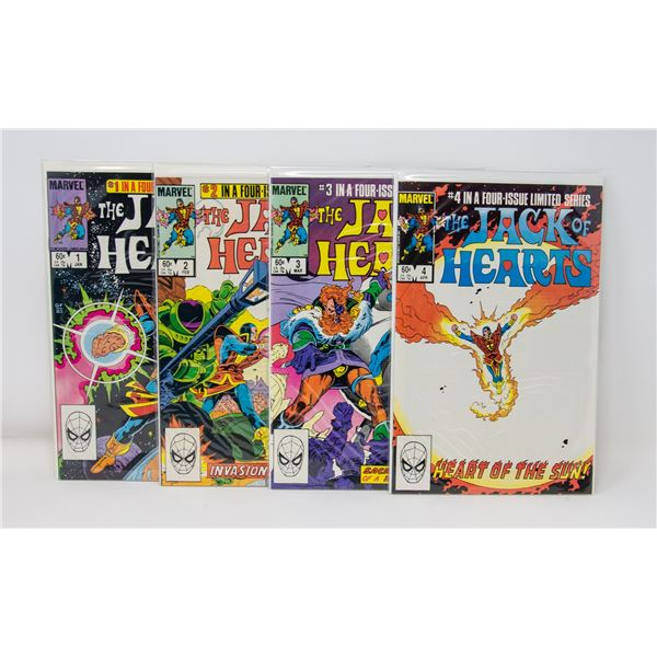MARVEL THE JACK OF HEARTS #1-4 COMIC LOT