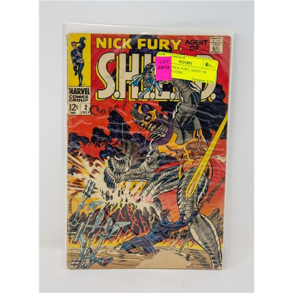 MARVEL NICK FURY, AGENT OF SHIELD #2 COMIC