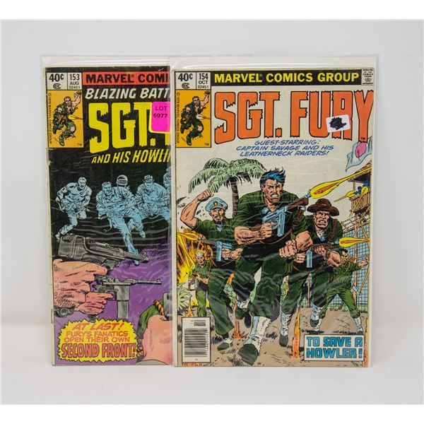 MARVEL SGT. FURY #153 AND 154 COMIC LOT