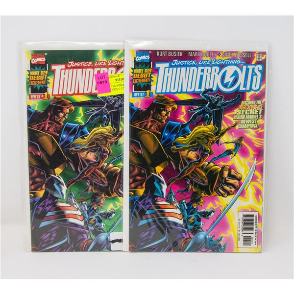 MARVEL THUNDERBOLTS #1, 1ST AND 2ND PRINT COMICS
