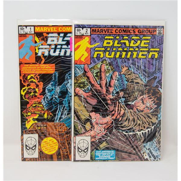 MARVEL BLADE RUNNER #1, 2 COMIC LOT MOVIE ADAPTATI