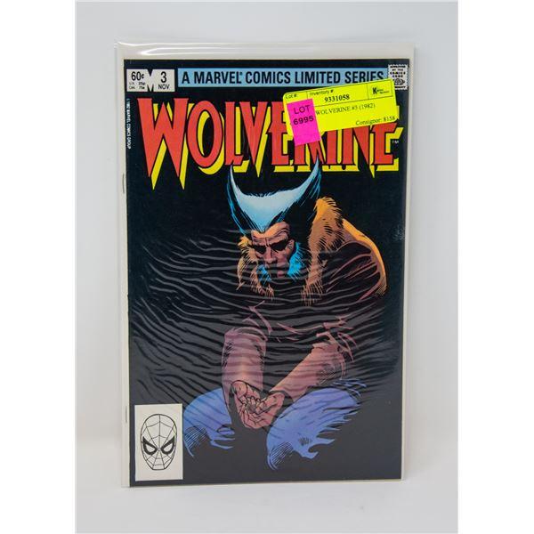 MARVEL WOLVERINE #3 (1982) COMIC