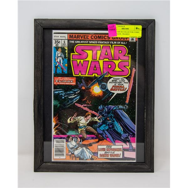 STAR WARS #6 COLLECTOR COMIC, HIGH GRADE, FRAMED