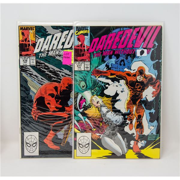 MARVEL DAREDEVIL #276 AND 277 COMIC LOT