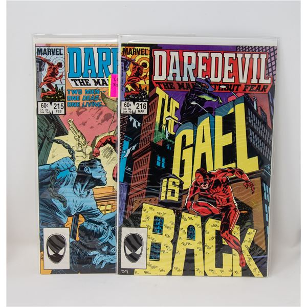 MARVEL DAREDEVIL #215 AND 216 COMIC LOT