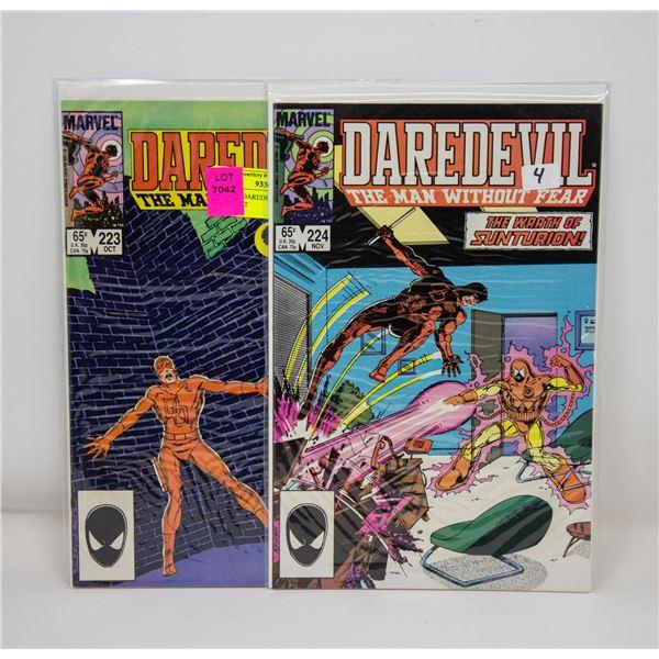 MARVEL DAREDEVIL #223 AND 224 COMIC LOT