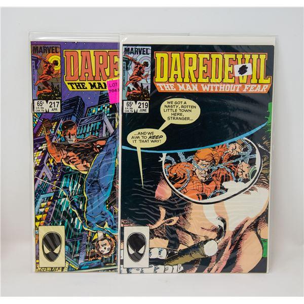MARVEL DAREDEVIL #217 AND 219 COMIC LOT