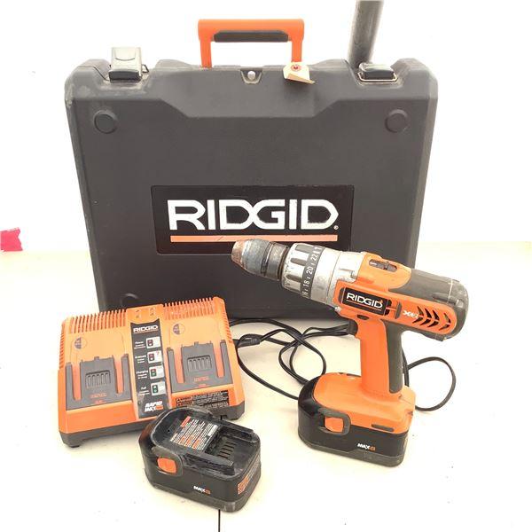 Ridgid R841150 1/2  Cordless Drill W 2 Battery Packs
