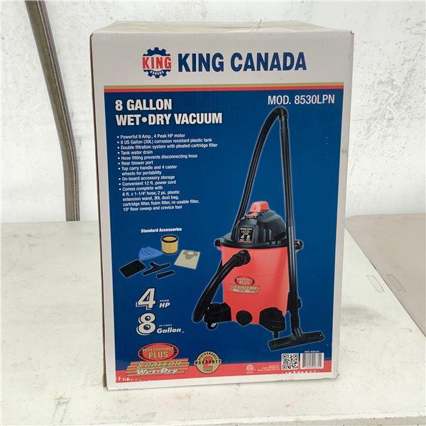 King Canada Model 8530LPN 8 Gallon Wet/ Dry Vacuum, New
