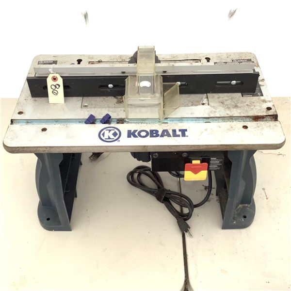 Kobalt Router and Router Table