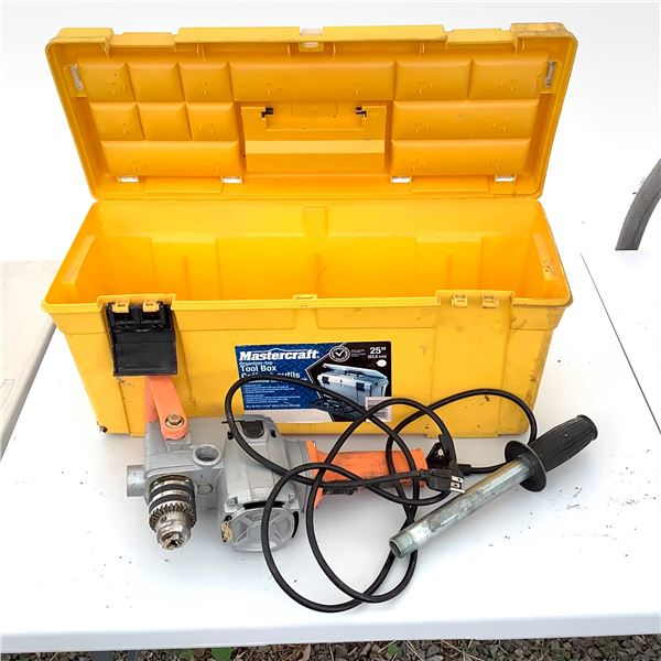"""Right Angle 1/2"""" Drill in MasterCraft Tool Box"""
