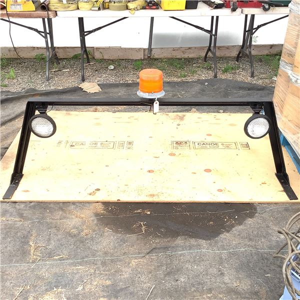 Custom Back Rack for Truck with Lights and Flasher