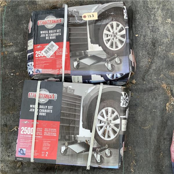 MotoMaster Wheel Dolly Set, 2500 Lbs X 2, New