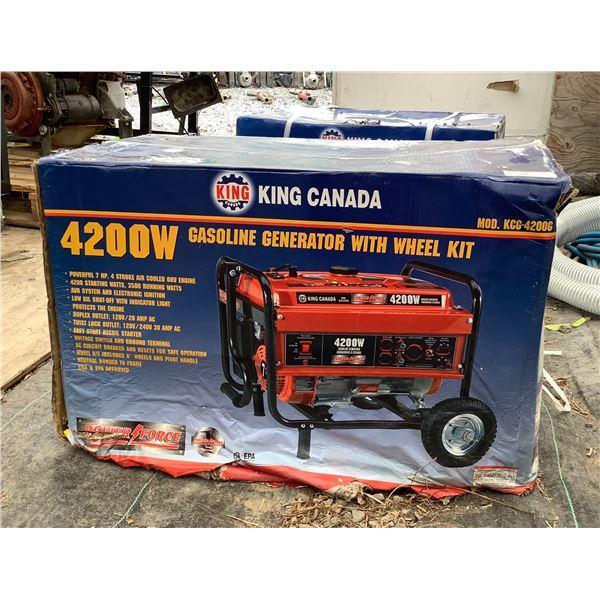 King Canada KCG-4200G 4200 W Gasoline Generator W Wheel Kit