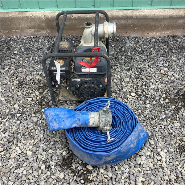 """Gasoline Run 3"""" Water Pump W Discharge Hose"""