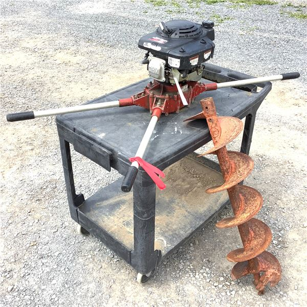 """General 2 Person Gas Post Hole Auger and Extension W Honda 5 Horse Engine, Comes With 1 10"""" Bit"""