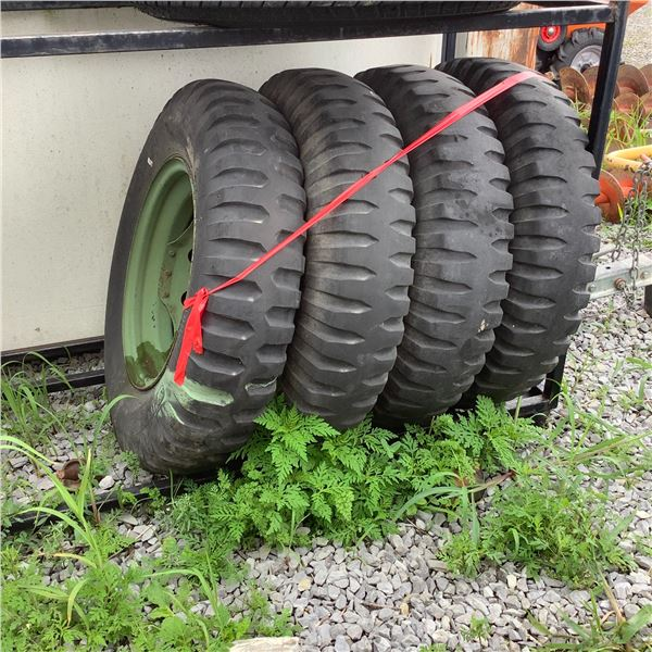 Military 700/16 Tires on Rims from M152 Mutt X 4