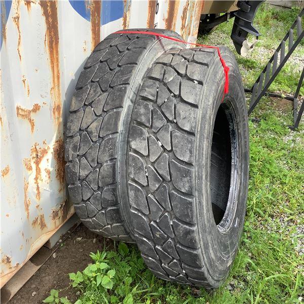 Michelin 11R22.5 Tires X 2