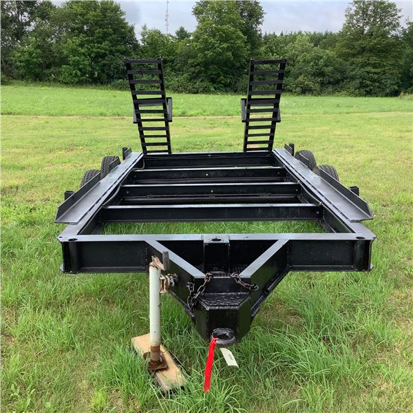 Tandem Axel Trailer With Ramps and Pintle Hitch Hook Up, 13' X 7'
