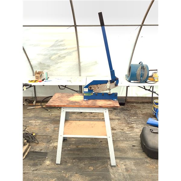 """Power Fist 12"""" Metal Shear on Stand"""