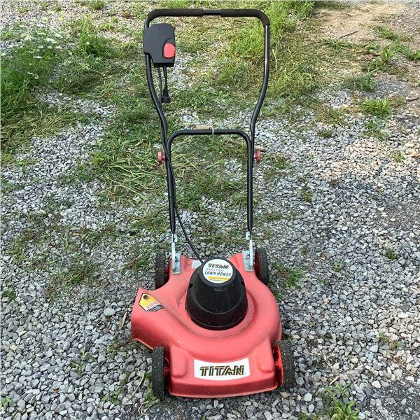 "Titan Electric 18"" Push Lawn Mower, Model 2050"