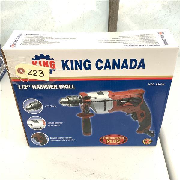 "King Canada 1/2"" Hammer Drill, Model 8309N, New"