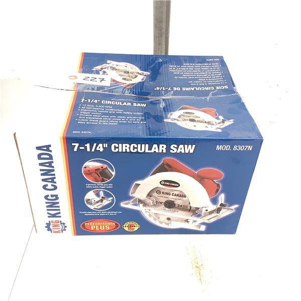 """King Canada 7 1/4"""" Circular Saw, Model 8307N, New"""