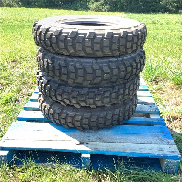 """4 Michelin Tires for a Iltis, Size 6.50 R 16 XCL """"New"""""""