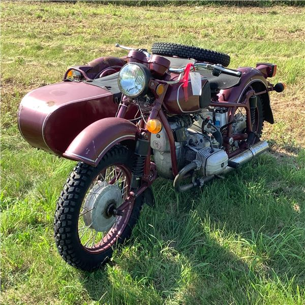 Dnepr Russian Motorcycle with Side Car