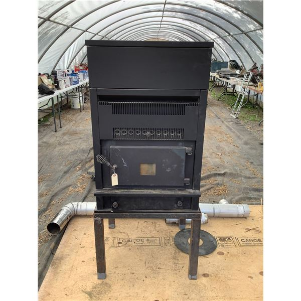 Kozi Model KOZI 100 KSH Series Wood Pellet Stove With Stand and Pipes