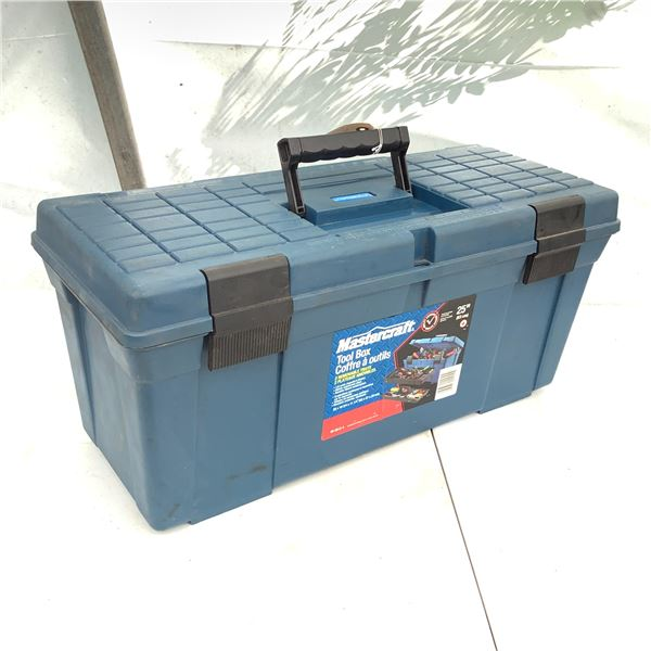 """MasterCraft Tool Box, 25"""" With 2 Removable Trays"""