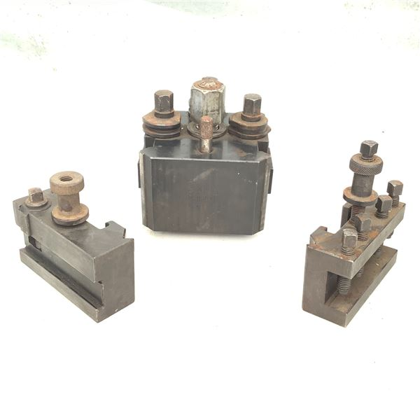 Lathe Tool Post With 2 Holdings