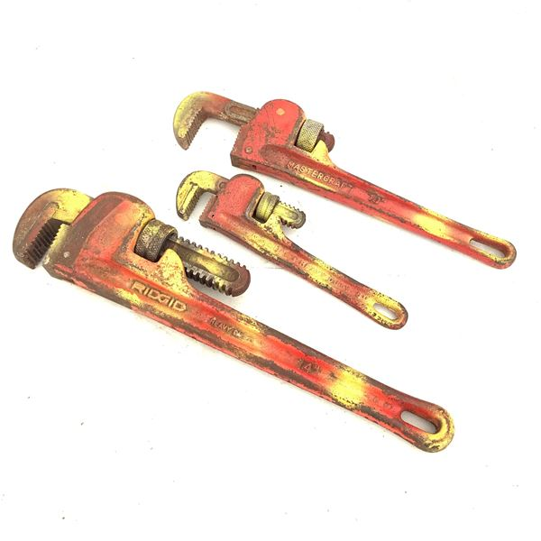 """Pipe Wrenches 14"""", 10"""", 8"""""""