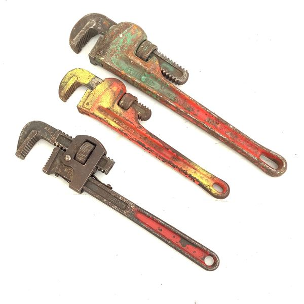 """Pipe Wrenches 10"""", 12"""", 14"""""""