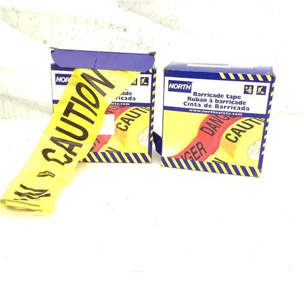 North Barricade (Caution) Tape X 2, New