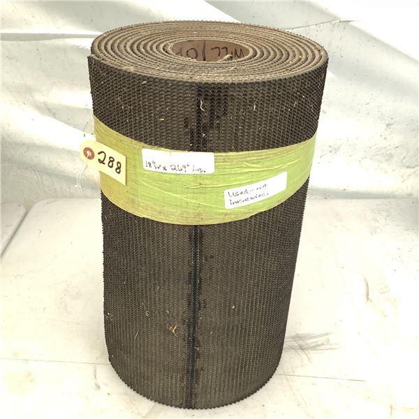 "Roll of Used Conveyor Belting, 18"" X 269"""
