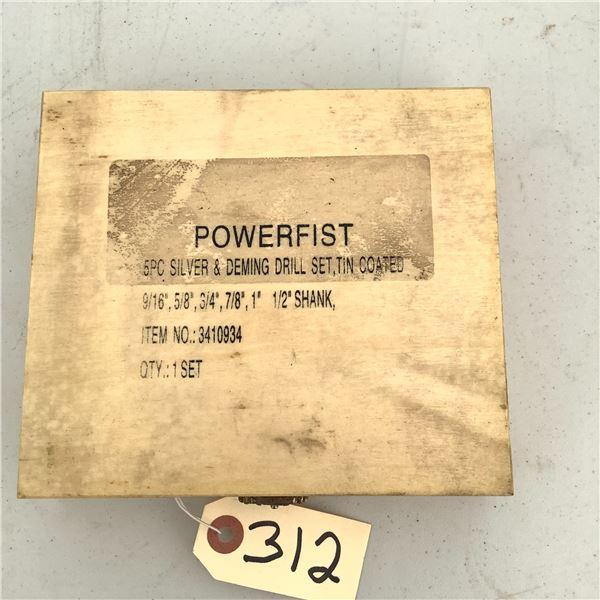 "Power Fist Drill Bit 9/16"" - 1"", 5 Piece Set"