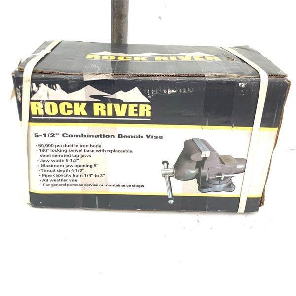 """Rock River  5 1/2"""" Combination Bench Vise, New"""