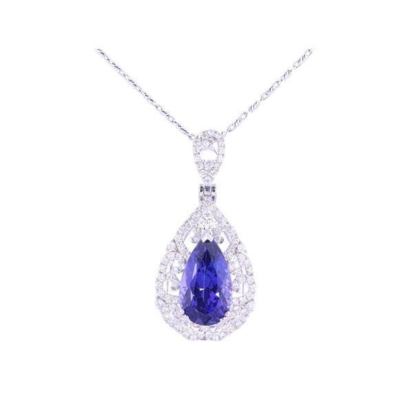8.30ct Tanzanite Diamond 18kt White Gold Necklace
