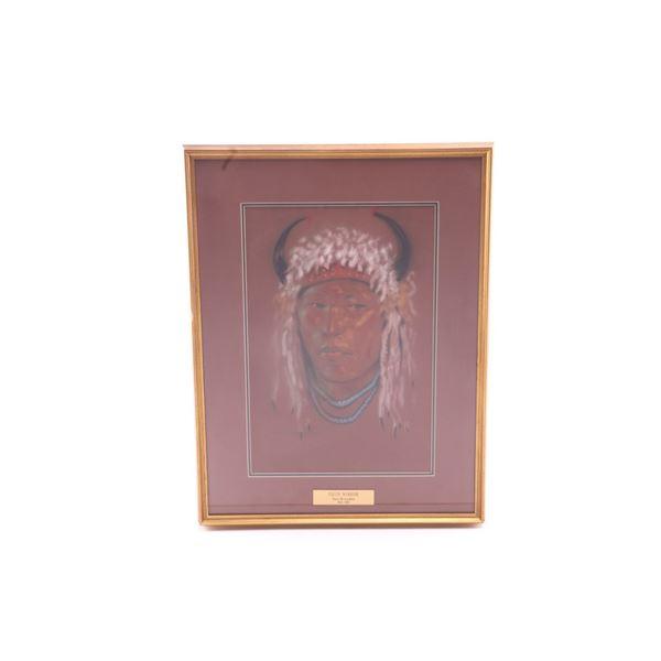 Nancy McLaughlin (1932-1985) Pikuni Warrior Pastel