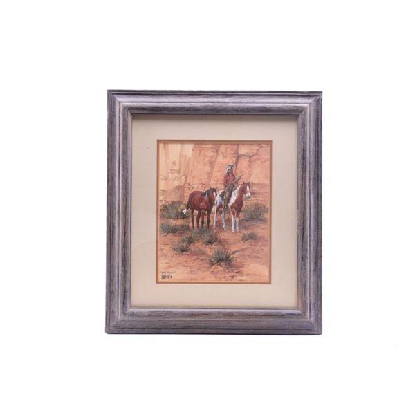 Stewart, Ron (1941-) Wild Ponies Gouache c. 1975